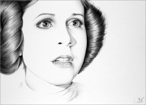 Premium-Poster Carrie Fisher