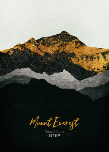 Premium-Poster Mount Everest