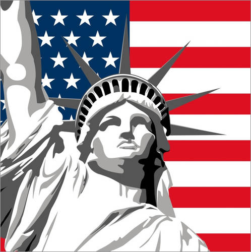 Wandsticker statue of liberty