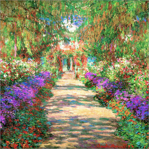Wandsticker Weg in Monets Garten in Giverny