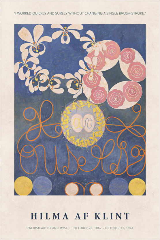 Premium-Poster Hilma af Klint - Quickly and surely