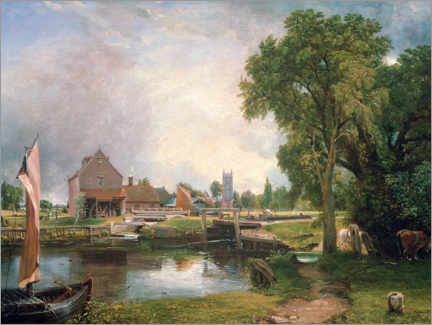 Wandsticker  Dedham Lock und Mill - John Constable