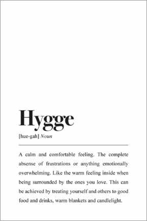 Leinwandbild  Hygge Definition (Englisch) - Pulse of Art