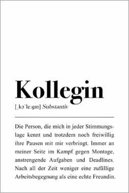 Hartschaumbild  Kollegin Definition - Pulse of Art