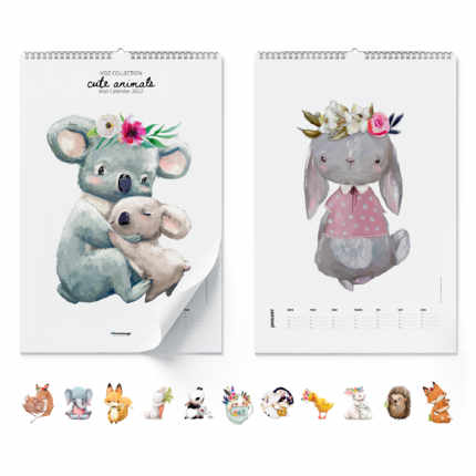 Wandkalender  Cute Animals 2021