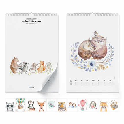 Wandkalender  Animal Friends 2021