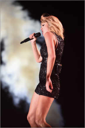 Acrylglasbild  Taylor Swift in concert, F1 United States Grand Prix, Texas 2016