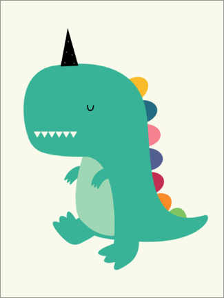 Gallery Print  Dinocorn - Andy Westface
