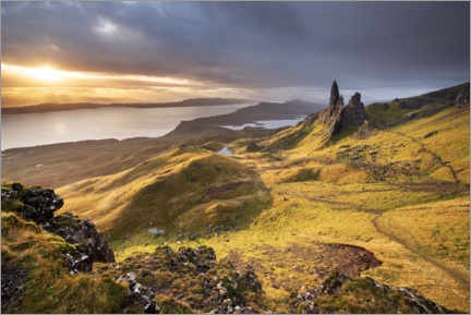 Premium-Poster The Old Man of Storr bei Sonnenaufgang