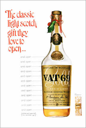 Leinwandbild  Vat 69 - Advertising Collection