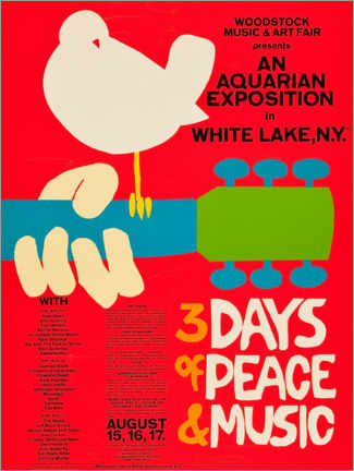 Premium-Poster  Woodstock Festival - Entertainment Collection