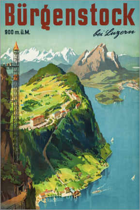 Acrylglasbild  Bürgenstock bei Luzern - Travel Collection
