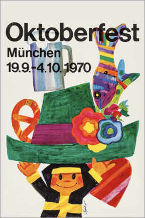 Acrylglasbild  Oktoberfest 1970 - Travel Collection