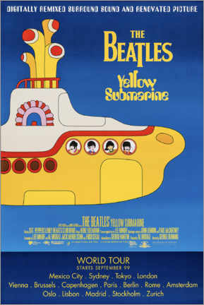 Holzbild  The Beatles ? Yellow Submarine - Entertainment Collection