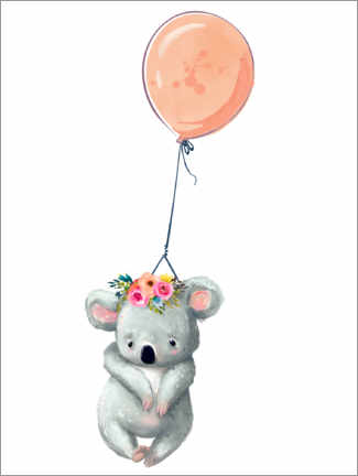 Hartschaumbild  Koala mit Ballon - Kidz Collection