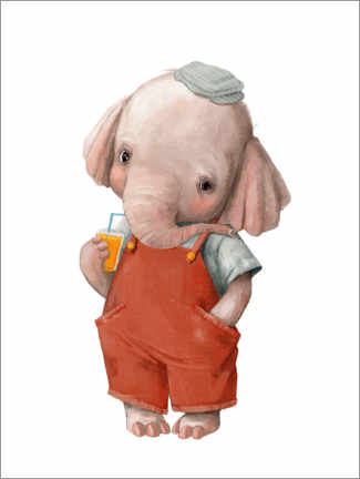 Alubild  Kleiner Elefant - Kidz Collection