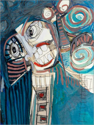 Holzbild  The laughing third - MASCH ART