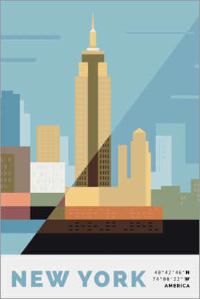 Premium-Poster New York II