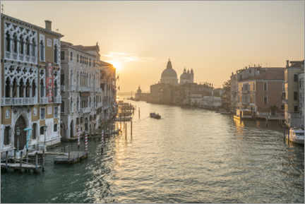 Premium-Poster Canal Grande bei Sonnenaufgang