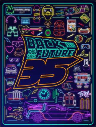 Premium-Poster  Back to the future - neon items