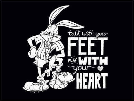 Gallery Print  Bugs Bunny - Soccer quote