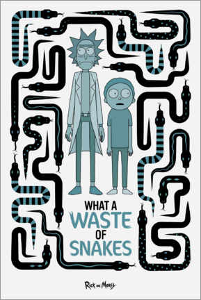Wandsticker  Rick and Morty - Waste of Snakes