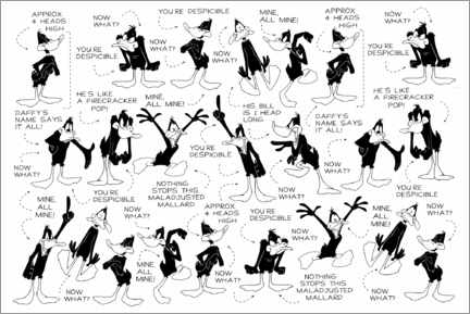 Gallery Print  Daffy Duck - Expressions