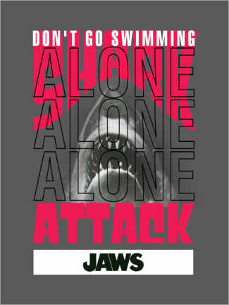 Gallery Print  Don't Go Swimming Alone