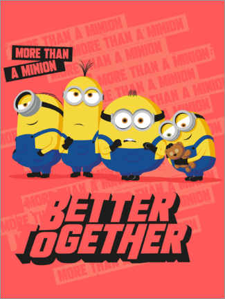 Premium-Poster  Minions Better Together