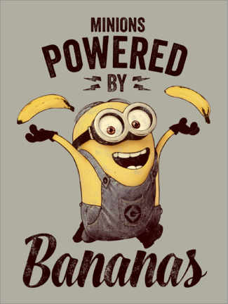 Premium-Poster  Minions - Powered by Bananas