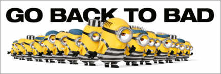 Gallery Print  Minions - Back to bad