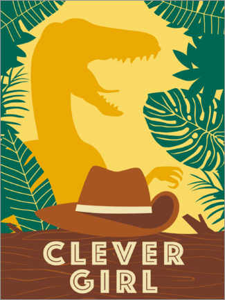 Wandsticker  Clever Girl