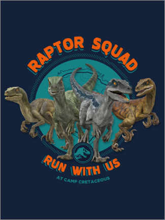 Wandsticker  Camp Cretaceous - Raptor Squad