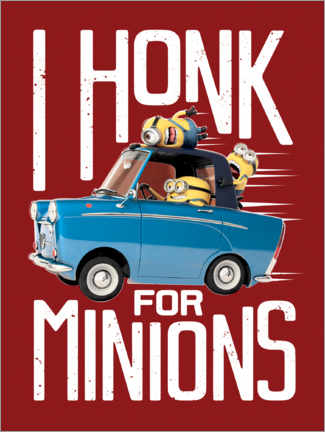 Premium-Poster  I honk for minions