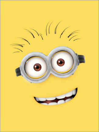 Premium-Poster  Silly Minion Face