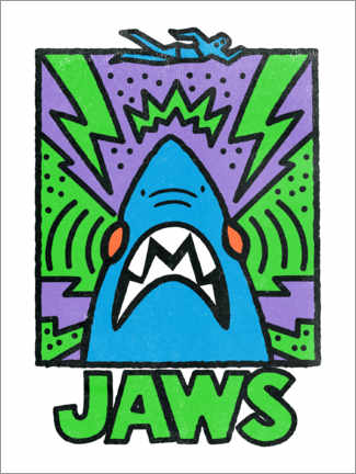 Holzbild  Jaws - Keith Haring Style II