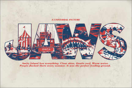 Gallery Print  Jaws - Perfect feeding ground