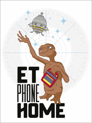 Leinwandbild  E.T. - Phone Home