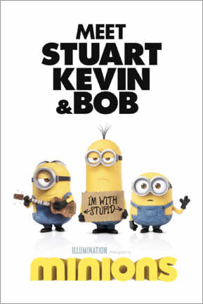 Premium-Poster  Minions - I'm with stupid