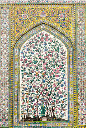 Alubild  Florales Muster, Wakil Moschee - Stefan Auth