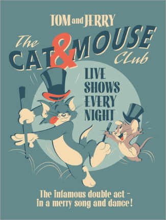 Holzbild  Tom and Jerry - Cat and Mouse Club