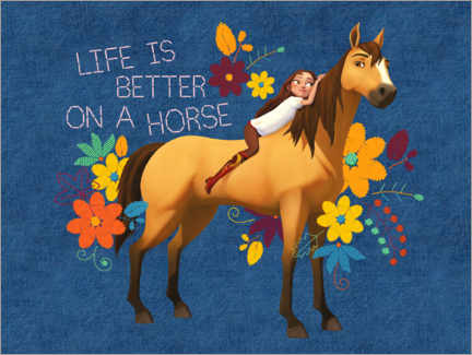 Acrylglasbild  Life is better on a horse