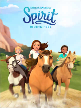 Holzbild  Spirit Riding Free