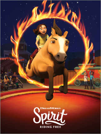 Holzbild  Spirit Riding Free - Manege
