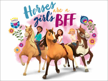 Premium-Poster  Horses are a girl's BFF