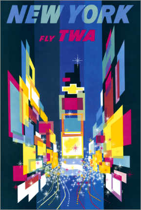 Acrylglasbild  New York, Fly TWA - William P. Gottlieb/LOC