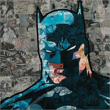 Premium-Poster  Batman Pop Art Comic