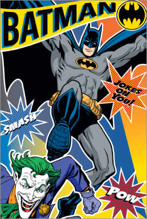 Premium-Poster  DC Batman Comic - Joker Smash