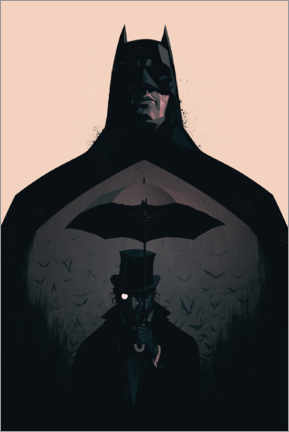 Premium-Poster  Batman vs Penguin