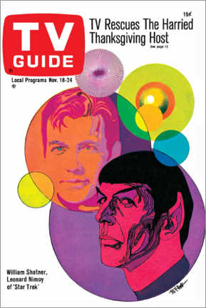 Leinwandbild  Star Trek - Retro Cover 1967 - TV Guide